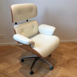 Компьютерные кресла - Компьютерное кресло из натуральной кожи и дерева, 0