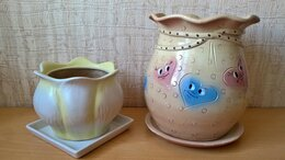 Горшки, подставки для цветов - Горшки керамические для цветов, Лилия и Мешочек., 0