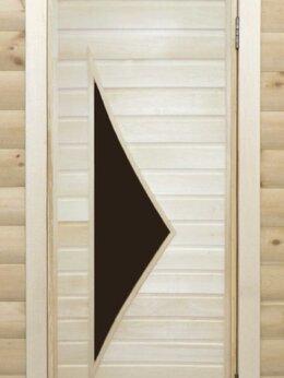 Двери - Банная дверь липа остекленная ПО-10, 0