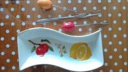 Блюда и салатники - Блюдо «Волна» фарфор для лимона, оливок, маслин,…, 0