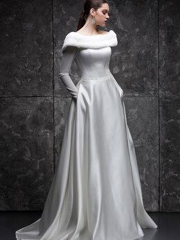 Платья - Закрытое атласное свадебное платье Зима размеры…, 0