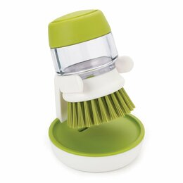 Тряпки, щетки, губки - Щетка зеленая с дозатором для моющего средства…, 0