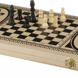 Настольные игры - H4824 Набор 3 в 1 (нарды, шахматы, шашки), 0
