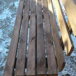 Скамейки - Скамейка садовая со спинкой   на мет. каркасе  180 45х45 см., 0
