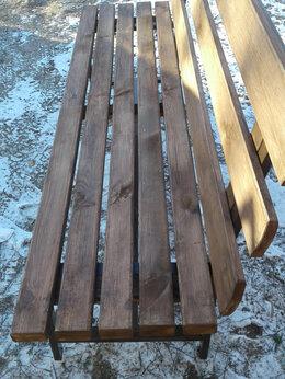 Скамейки - Скамейка садовая со спинкой   на мет. каркасе …, 0