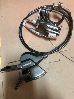 Манетки и шифтеры - Передний переключатель и манетка Shimano Altus, 0