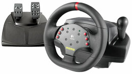 Рули, джойстики, геймпады - Руль Logitech MOMO Racing Force Feedback Wheel, 0