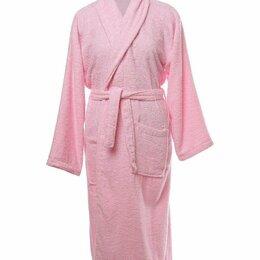 Домашняя одежда - Халат женский махровый, шалька ЭЛИТ Ярко-розовый размер 54, 0