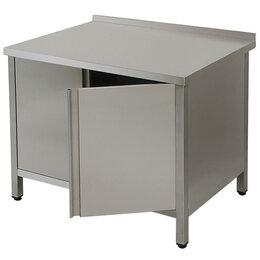 Столы - Стол нерж. 140/70/90 с дверьми цельный (011673), 0