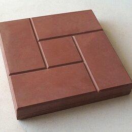 Тротуарная плитка, бордюр - Тротуарная плитка 300*300*30 калифорния гладкая коричневая, 0