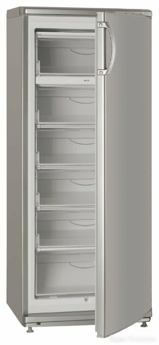 Морозильник Атлант 7184-080 серебристый, новый по цене 25953₽ - Морозильники, фото 0