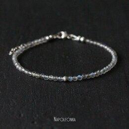 Браслеты - Браслет из лабрадора и серебра 925 пробы (БР04220), 0