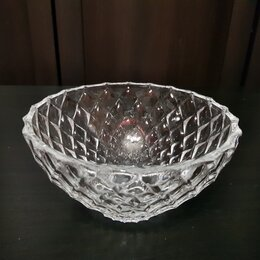 Блюда, салатники и соусники - Круглая хрустальная салатница-ваза , 0