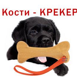 Игрушки  - Игрушка для собак кость Крекер Новые игры из дерева прочные удобные  с ремешком, 0