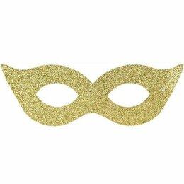 Карнавальные и театральные костюмы - Маска золото, 6шт, 0