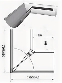 Сайдинг - Угол внутренний УВф.125 0.6-шоколад.коричн.*2(3)…, 0