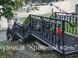 Лестницы и элементы лестниц - Лестница металлическая на улицу, с коваными…, 0