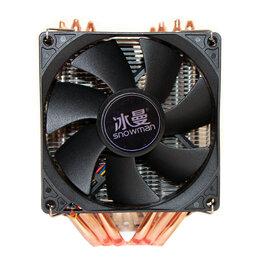 Кулеры и системы охлаждения - Кулер для процессора Snowman M-X6, 2 вентилятора, с подсветкой и без, 0
