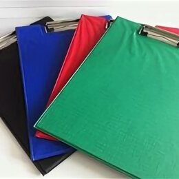 Планшеты - Планшет картон в PVC с крышкой DL А4 кр,син,зел,черн /60/80/, 0