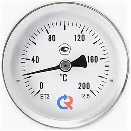 Метеостанции, термометры, барометры - Термометр биметаллический ТБ100 120С Дк100 L=50 мм/лат.,осевой, 0