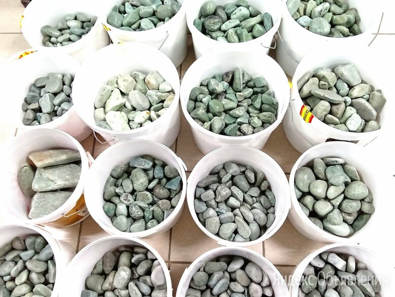 Камни для бани Жадеит шлифованный по цене 232₽ - Камни для печей, фото 0
