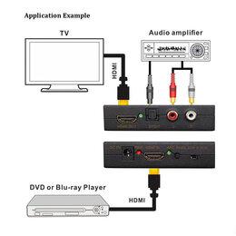 Запчасти к аудио- и видеотехнике - Hdmi к hdmi аудио сплиттер 4K, 0