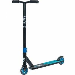 Самокаты - Самокат трюковый NOVATRACK WOLF EL черный/синий (колеса 100*100 мм), 0