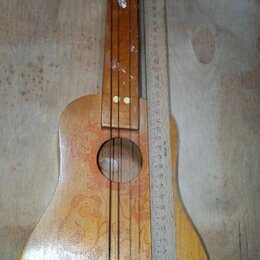 Детские музыкальные инструменты - Гитара детская СССР с рисунком продажа обмен, 0