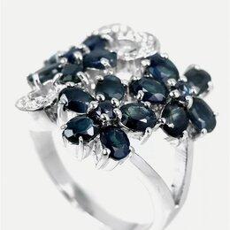 Кольца и перстни - Сапфир серебро, 0