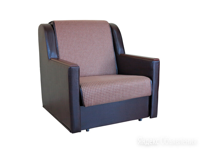 Кресло кровать Аккорд Д рогожка коричневый по цене 13590₽ - Кресла, фото 0