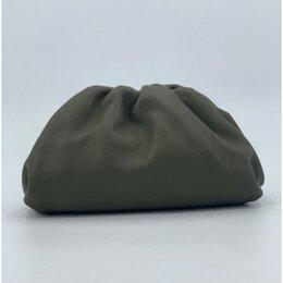 Клатчи - Сумка - клатч Bottega Veneta Pouch женская кожаная серая новая, 0