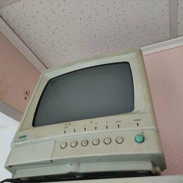 Мониторы - Черно белый монитор 4х канальный для видеонаблюдения рабочий Satro, 0