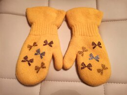 Перчатки и варежки - Варежки новые девочке на 4-6 лет, 0