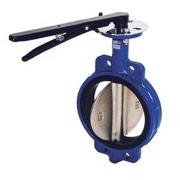 Элементы систем отопления - Затвор дисковый поворотный межфланцевый чугунный DENDOR-017W Ду 125 Ру10/16, 0