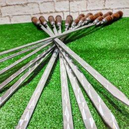Шампуры - Шампуры 40 см с деревянной ручкой 10, 0