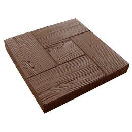 Тротуарная плитка, бордюр - Тротуарная плитка 300*300*30 калифорния дерево коричневая, 0