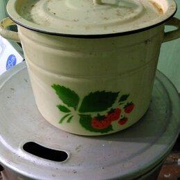 Кастрюли и ковши - Кастрюля большая эмалированная на 12 литров СССР, 0