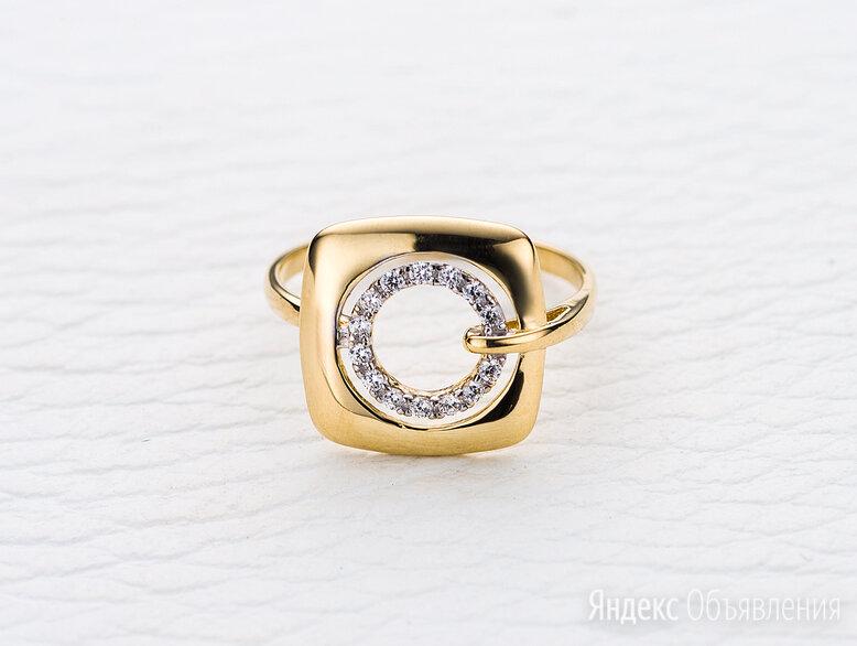Кольцо с 14 фианитами из жёлтого золота по цене 13266₽ - Кольца и перстни, фото 0