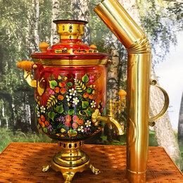 Самовары - Самовар на дровах с росписью «Райский Сад» 7 л. +труба, 0
