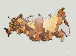 Картины, постеры, гобелены, панно - Деревянная карта России, 0