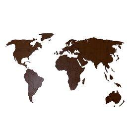Картины, постеры, гобелены, панно - Деревянная карта мира 120х60 см Premium (Орех), 0