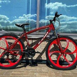 Велосипеды - Велосипед горный на литых дисках , 0