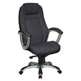 Компьютерные кресла - Кресло офисное с жесткими подлокотниками черное…, 0
