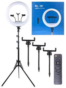 """Осветительное оборудование - Кольцевая селфи лампа RL-18"""" M-45, 0"""