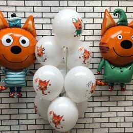 Воздушные шары - Композиция  из шаров с героями мультсериала Три кота, 0