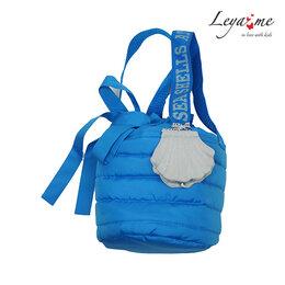 Рюкзаки, ранцы, сумки - Бирюзовая детская стеганая сумка, 0