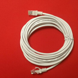 Компьютерные кабели, разъемы, переходники - Кабель патч-корд литой UTP Кат.5е серый 3 м, 0