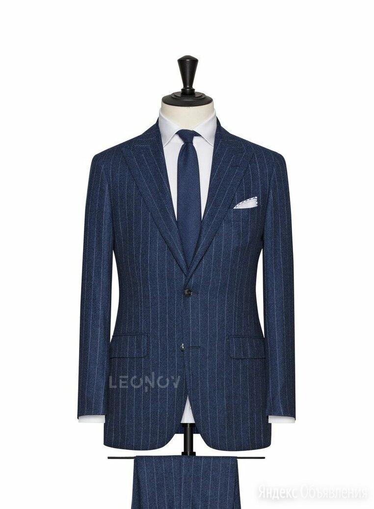 Синий костюм в тонкую светлую полоску – Leonov по цене 39000₽ - Костюмы, фото 0