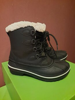 Полусапоги - Зимние женские ботинки черные crocs Новые р.36, 0