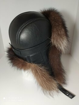 Головные уборы - Новые мужские шапки из меха енота, 0